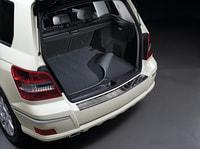 Двусторонний коврик в багажник Мерседес GLK class X204, черный