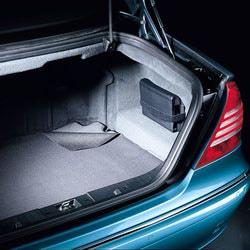 Коврик в багажник для Mercedes S class W220 черный
