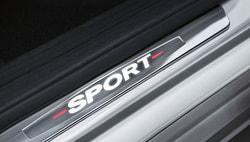 Накладки на пороги для Mercedes C class W205