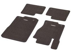 Коврики салона велюровые коричневые для Mercedes GLE class W166