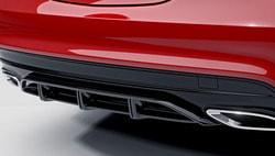 Спойлер заднего бампера AMG Mercedes CLA 117 со стилизацией под диффузор