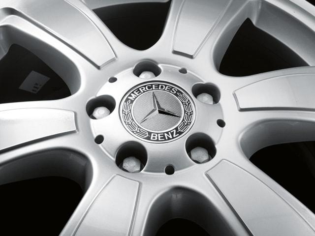Заглушка колесного диска черная для Mercedes C class W205
