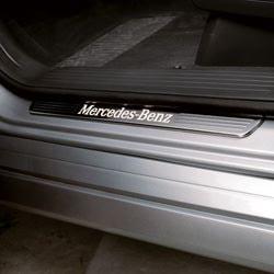 Накладки на пороги AMG с подсветкой для Mercedes ML W166