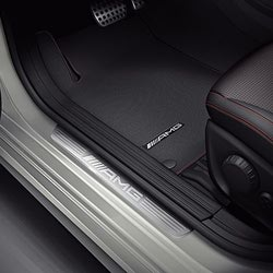 Накладки на пороги AMG без подсветки для Mercedes A class W176