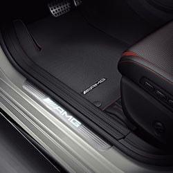 Накладки на пороги AMG с подсветкой для Mercedes A class W176