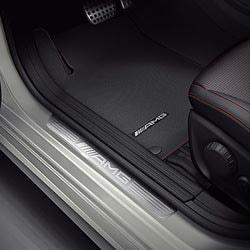 Накладки на пороги AMG без подсветки для Mercedes CLA class C117