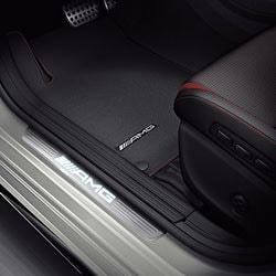Накладки на пороги AMG с подсветкой для Mercedes CLA class C117