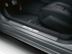 Накладки на пороги AMG с подсветкой для Mercedes E class W212