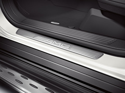 Накладки на пороги AMG без подсветки для Mercedes GL class X166