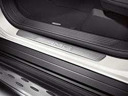 Накладки на пороги AMG без подсветки для Mercedes ML W166