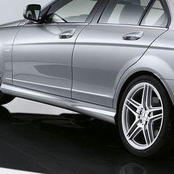 Облицовка порогов AMG для Mercedes C class W204