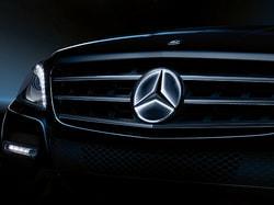 Звезда Mercedes с освещением для Mercedes C class W205
