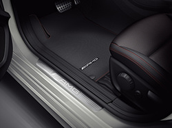 Накладки на пороги AMG для Mercedes GLA class X156