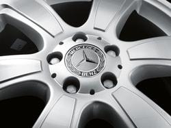 Заглушка колесного диска для Mercedes черная