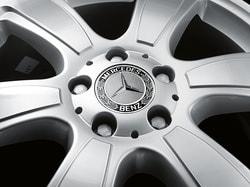 Заглушка колесного диска черная для Mercedes E class W212