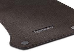 Коврики салона для Mercedes GLC X253 велюровые коричневые