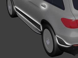 Дизайн боковой обшивки со структурной поверхностью для Mercedes GLC class X253