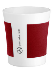 Фарфоровая кружка Mercedes Porclain Mug White Red