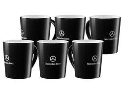 Набор из шести кружек Mercedes Stuttgart Mug, Black