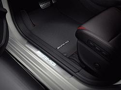 Накладки на пороги AMG с подсветкой Mercedes CLA class X117