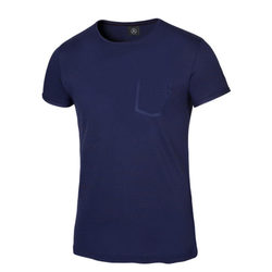Мужская футболка Mercedes Men's T-shirt, Navy with Dark Red Contrasts